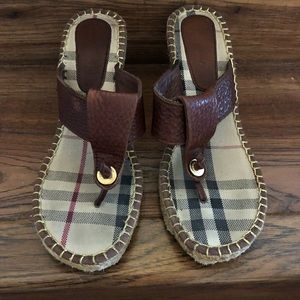 BURBERRY Leather Nova Check sandals